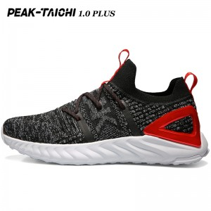 "PEAK 2019 Summer New PEAK-""TAICHI"" 1.0 Plus Smart Running Shoes - Black/Red/Gray"